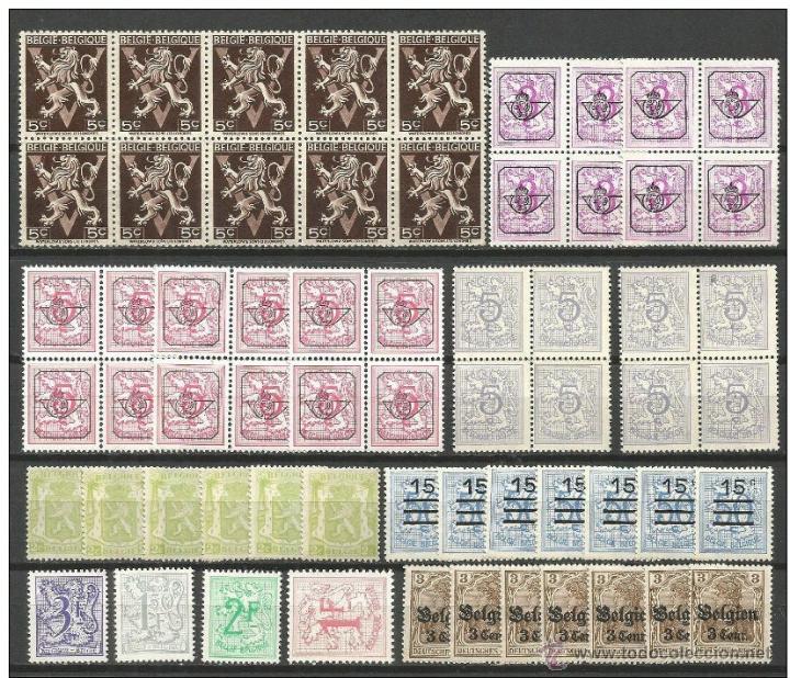 BELGICA CONJUNTO DE SELLOS NUEVOS SIN FIJASELLOS (Sellos - Colecciones y Lotes de Conjunto)