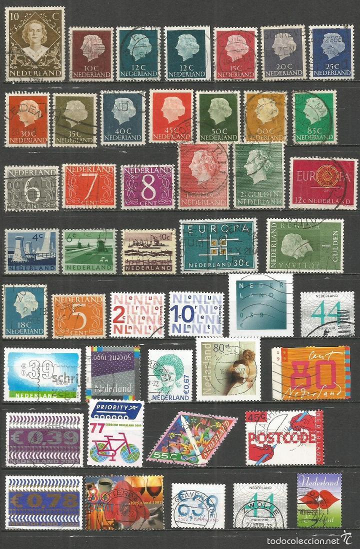 HOLANDA CONJUNTO DE SELLOS USADOS DIFERENTES (Sellos - Colecciones y Lotes de Conjunto)