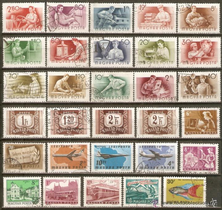 HUNGRIA CONJUNTO DE SELLOS USADOS DIFERENTES (Sellos - Colecciones y Lotes de Conjunto)