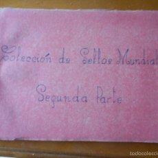 Sellos: COLECCION ALBUM SELLOS MUNDIALES USADOSY NUEVOS MUY BUEN ESTADO. Lote 56664364