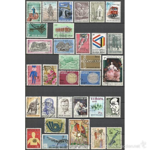 BELGICA CONJUNTO DE SELLOS USADOS DIFERENTES (Sellos - Colecciones y Lotes de Conjunto)
