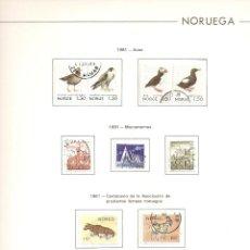Sellos - Noruega. COLECCIÓN COMPLETA AÑOS 1981 AL 1987.Montada. Incluye hojas FARO. LUJO. ENVÍO GRATIS. - 58215259
