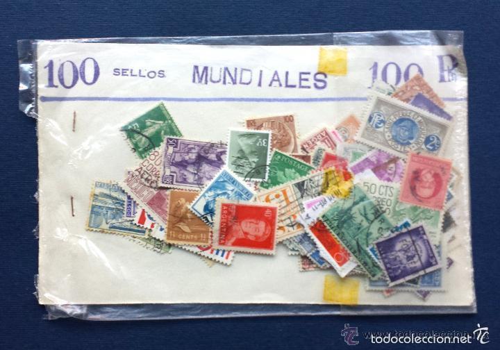 LOTE SOBRE 100 SELLOS MUNDIALES DE PAISES DEL MUNDO SOBRE AÑOS 70 (Sellos - Colecciones y Lotes de Conjunto)