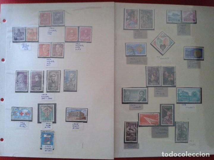 IMPRESIONANTE LOTE DE SELLOS ESPAÑOLES ANTIGUOS AÑOS 60 ,(DATADOS) MUY DIFÍCIL DE CONSEGUIR (Sellos - Colecciones y Lotes de Conjunto)