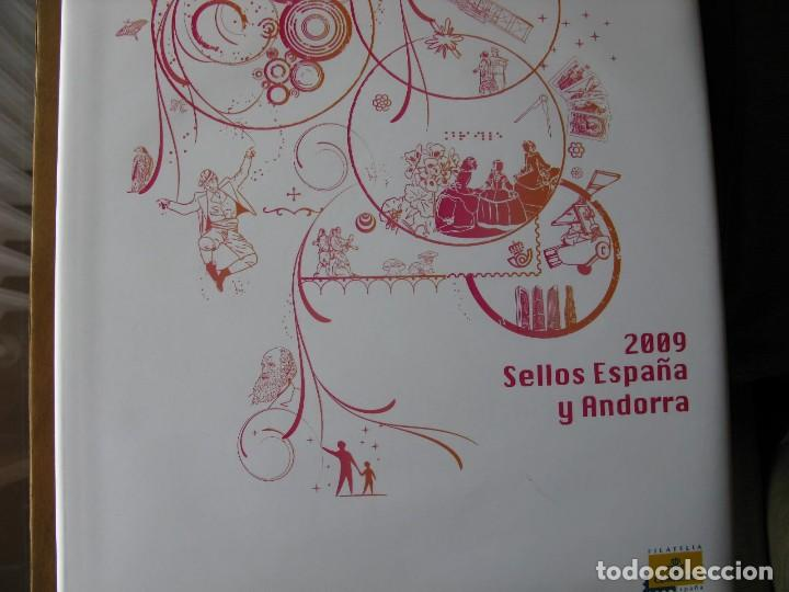 LIBRO SELLOS ESPAÑA Y ANDORRA 2009 (Sellos - Colecciones y Lotes de Conjunto)