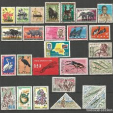 Sellos: CONGO REPUBLICA CONJUNTO DE SELLOS NUEVOS */** Y USADOS. Lote 81066140
