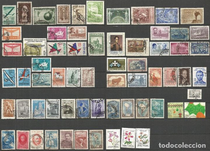 ARGENTINA CONJUNTO DE SELLOS USADOS DIFERENTES (Sellos - Colecciones y Lotes de Conjunto)