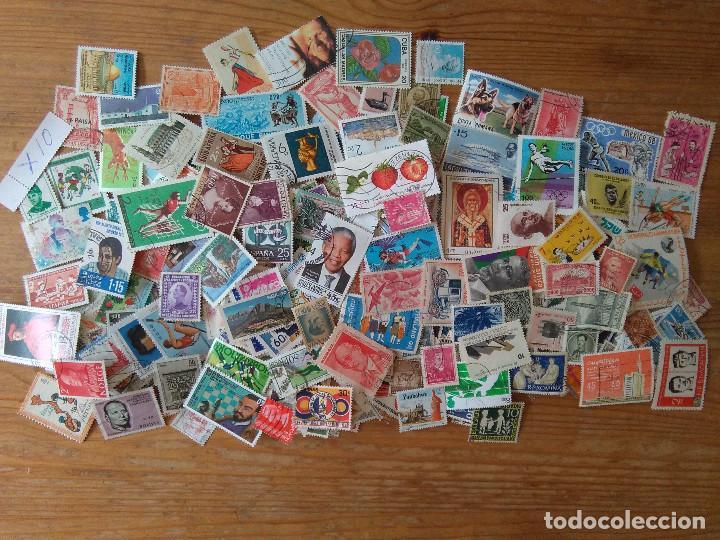 X10-LOTE 1000 SELLOS DIFERENTES MUNDIALES,UNIVERSALES,IMAGEN REAL.SIN REPETIDOS O AL MENOS INTENTO (Sellos - Colecciones y Lotes de Conjunto)