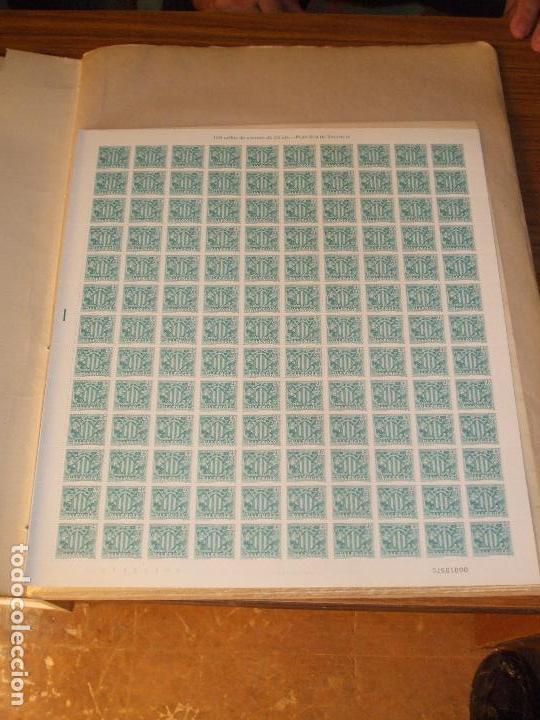 .OFERTA VALENCIA 11 SIN CHARNELA, 70 PLIEGOS A 130 = 9100 SELLOS EN CLASIFICADOR PLIEGO CELOFÁN (Sellos - Colecciones y Lotes de Conjunto)