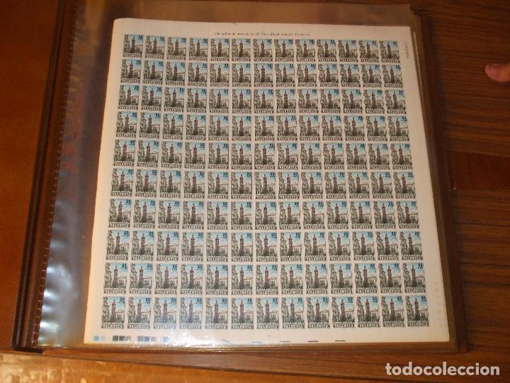 .OFERTA VALENCIA 9 SIN CHARNELA, 55 PLIEGOS 7150 SELLOS EN CLASIFICADOR PLIEGO FILABO H5 (Sellos - Colecciones y Lotes de Conjunto)