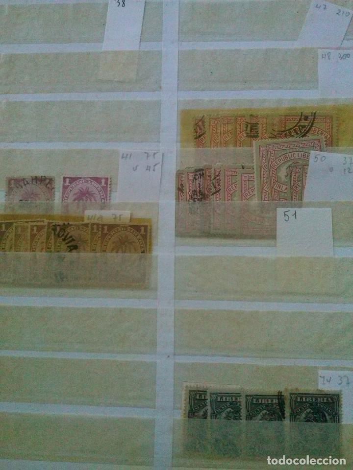 Sellos: LIBERIA , GRAN LOTE SELLOS EN CLASIFICADOR - Foto 2 - 90353200