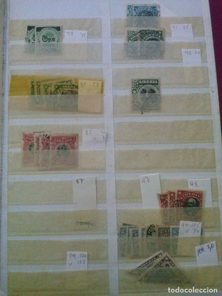 Sellos: LIBERIA , GRAN LOTE SELLOS EN CLASIFICADOR - Foto 3 - 90353200
