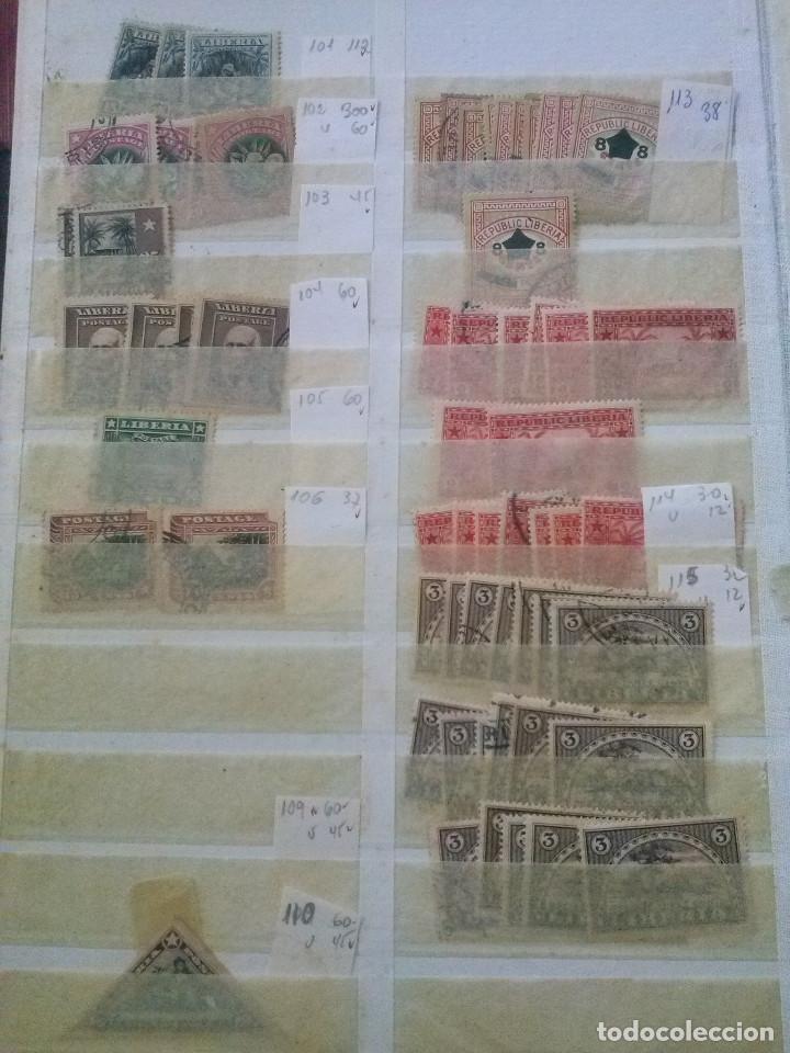 Sellos: LIBERIA , GRAN LOTE SELLOS EN CLASIFICADOR - Foto 4 - 90353200