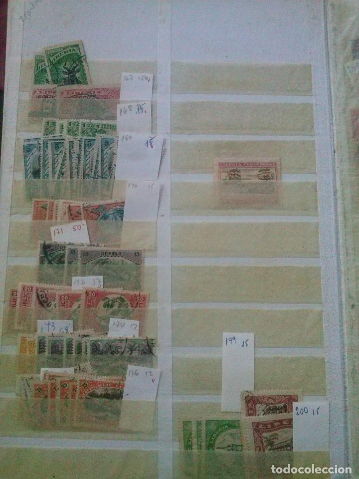 Sellos: LIBERIA , GRAN LOTE SELLOS EN CLASIFICADOR - Foto 6 - 90353200