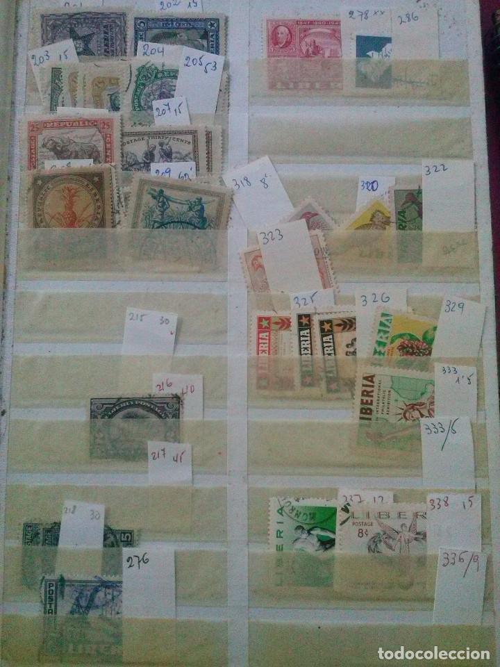 Sellos: LIBERIA , GRAN LOTE SELLOS EN CLASIFICADOR - Foto 7 - 90353200
