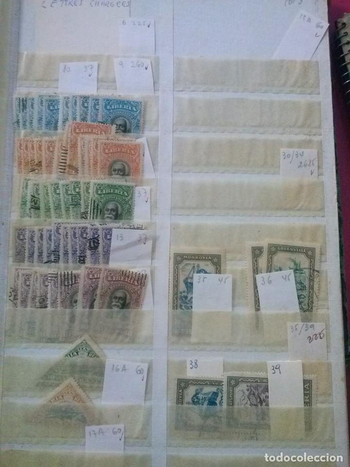 Sellos: LIBERIA , GRAN LOTE SELLOS EN CLASIFICADOR - Foto 10 - 90353200
