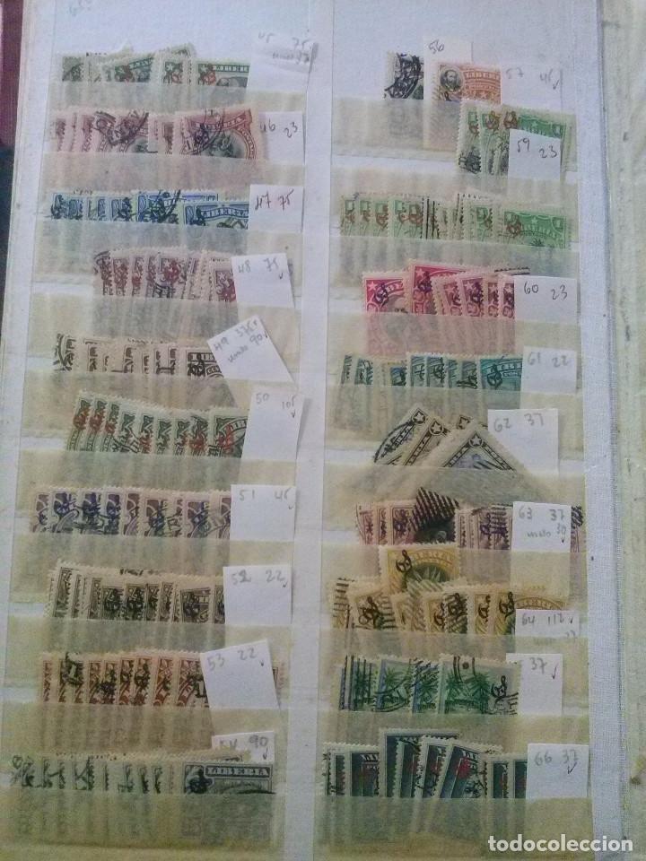 Sellos: LIBERIA , GRAN LOTE SELLOS EN CLASIFICADOR - Foto 13 - 90353200