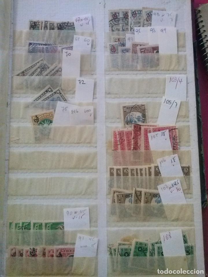 Sellos: LIBERIA , GRAN LOTE SELLOS EN CLASIFICADOR - Foto 14 - 90353200