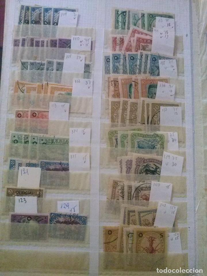 Sellos: LIBERIA , GRAN LOTE SELLOS EN CLASIFICADOR - Foto 15 - 90353200