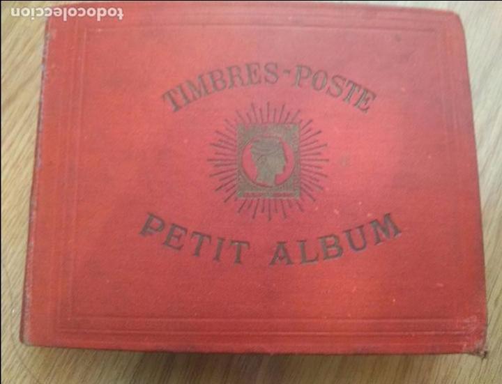 ALBUM DE SELLOS PETIT ALBUM TIMBRES - CON SELLOS DEL MUNDO. AÑOS 1900-30. VER FOTOS!!!APROX 300 PAG (Sellos - Colecciones y Lotes de Conjunto)