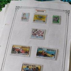 Sellos: LOTE DE 1069 SELLOS DEL MUNDO MATASELLADOS PEGADOS EN HOJAS CON ESTUCHES. Lote 94229680