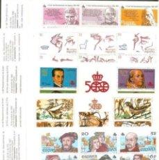 Sellos: ESPAÑA 6 CARNETS DESCUBRIMIENTO DE AMERICA SERIE COMPLETA NUEVOS. Lote 96906583