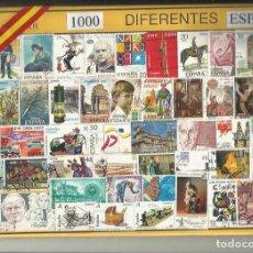 Sellos: EST-LOTE 1000 SELLOS ESPAÑA DIFERENTES 2ª CENTENARIO,SIN TASAR,CON SELLOS CLAVES,BUENA CALIDAD. Lote 98234091