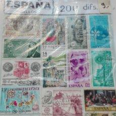 Sellos: 200 SELLOS DIFERENTES ESPAÑA. Lote 99576815