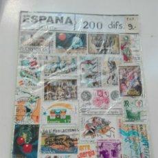 Sellos: 200 SELLOS DIFERENTES ESPAÑA. Lote 99577051