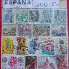 Sellos: 200 SELLOS DIFERENTES ESPAÑA. Lote 99579011