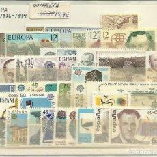Sellos: SELLOS DE ESPAÑA TEMATICA EUROPA AÑOS 1976 A 1994. Lote 99752151