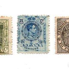 Sellos: LOTE DE SELLOS ESPAÑA 2 Y 25 CENTIMOS - TIMBRE MOVIL 1892. 10 CENTIMOS. Lote 101639279
