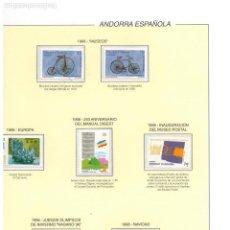 Briefmarken - COLECCION COMPLETA ANDORRA 1998/2003 - 103042127