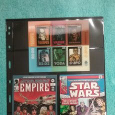 Sellos: LOTE STAR WARS SELLO Y POSTALES. Lote 103966920