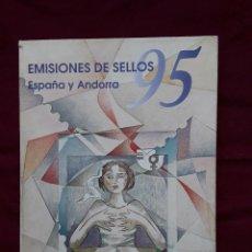 Sellos: EMISIONES DE SELLOS ESPAÑA Y ANDORRA 1995 ALBUM COMPLETO. Lote 105960099
