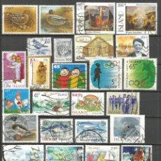 Sellos: ISLANDIA CONJUNTO DE SELLOS USADOS DIFERENTES. Lote 106085451