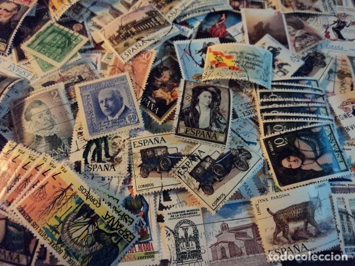 MAS DE 500 SELLOS USADOS DE ESPAÑA (Sellos - Colecciones y Lotes de Conjunto)