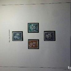 Sellos: COLECCIÓN PRINCIPADO ANDORRA 1973-1996, 193 UDS-23 HOJAS CON BORDES DORADO EDIFIL.. Lote 109166919