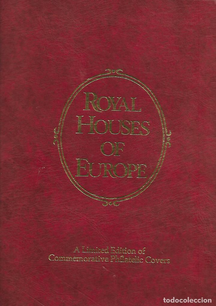 CARPETA DE LAS CASAS REALES DE EUROPA EN SOBRES FILATELICOS EDICION LIMITADA (Sellos - Colecciones y Lotes de Conjunto)