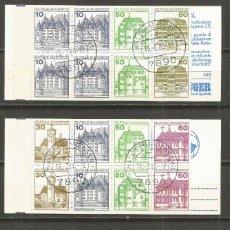 Sellos: ALEMANIA FEDERAL Y BERLIN CONJUNTO DE 3 CARNETS MATASELLADOS. Lote 115549763