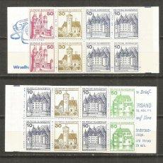 Sellos: ALEMANIA FEDERAL Y BERLIN CONJUNTO DE 3 CARNETS ** NUEVOS. Lote 115550199