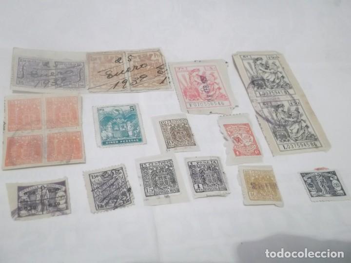 Sellos: LOTE DE 14 SELLOS ANTIGUOS DE POLIZAS - Foto 3 - 117784427