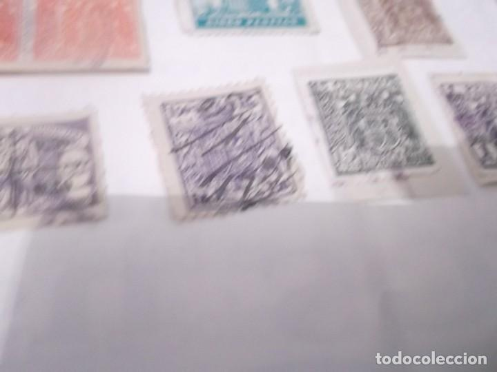 Sellos: LOTE DE 14 SELLOS ANTIGUOS DE POLIZAS - Foto 5 - 117784427