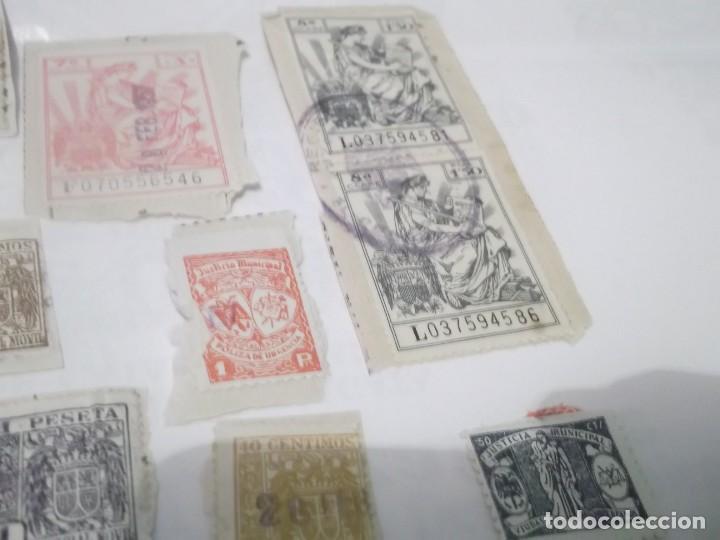 Sellos: LOTE DE 14 SELLOS ANTIGUOS DE POLIZAS - Foto 6 - 117784427