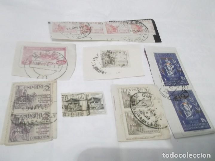 Sellos: LOTE DE 7 SELLOS ANTIGUOS DE CORREOS - Foto 2 - 117784435