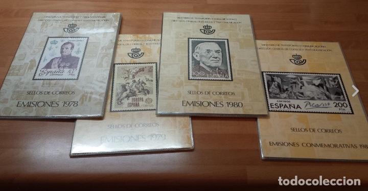 COLECCION COMPLETA DE CARPETAS Y LIBROS DE CORREOS ANUALES NUEVOS Y COMPLETOS 1978-2017 (Sellos - Colecciones y Lotes de Conjunto)