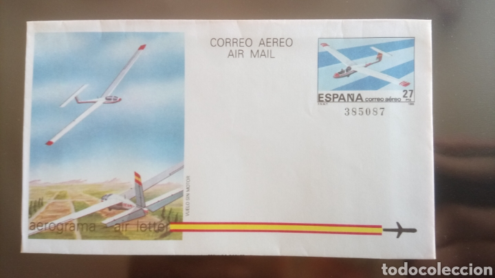AEROGRAMA CORREO AÉREO 1985. (Sellos - Colecciones y Lotes de Conjunto)
