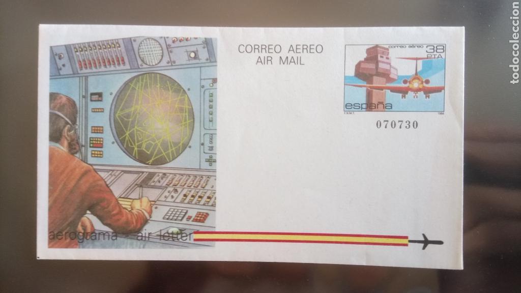 AEROGRAMA CORREO AÉREO 1984. (Sellos - Colecciones y Lotes de Conjunto)