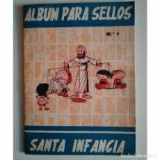 Sellos: 1966 ALBUM PARA SELLOS SANTA INFANCIA NÚMERO 1 COMPLETO CON LOS 100 SELLOS. Lote 123581727