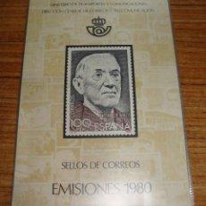 Sellos: (TC-122) CLASIFICADOR MINISTERIO DE TRANSPORTE SELLOS DE CORREOS EMISIONES 1980 COMPLETO . Lote 124240259